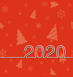 new years date 2020 vector image