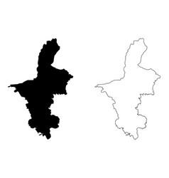 ningxia hui autonomous region map vector image