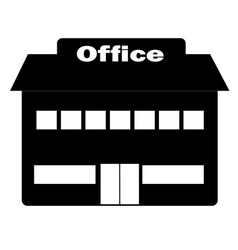 Office icon in trendy flat style on white vector