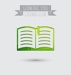 Open book Education sign symbol icon book with a vector