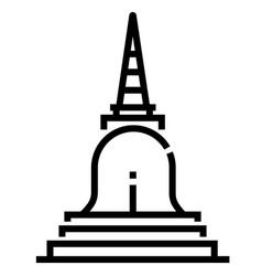 Pagoda line vector