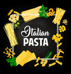 Pasta italian cuisine food restaurant menu cover vector