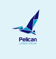 pelican logo design sign symbol icon vector image