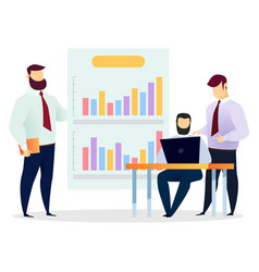 people on meeting setting goals and tasks vector image