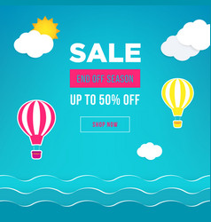 sale banner template design web banner with hot vector image