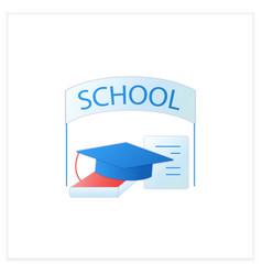 School graduation flat icon vector