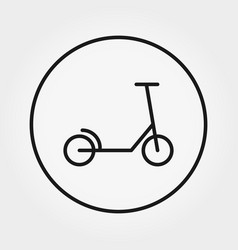 scooter universal icon editable thin vector image