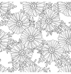 Seamless aster pattern vector