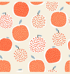 seamless fruit pattern with creative oranges vector image