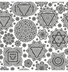 Seamless pattern with seven chakras vector