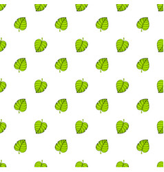 seamless pattern with up and down green tree leafs vector image