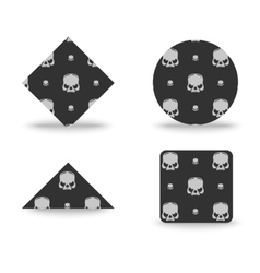Skull emblem or badge vector image