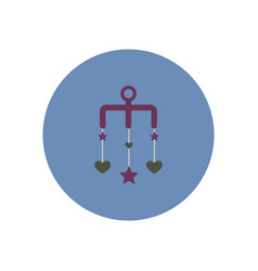 Stylish icon in color circle babies bed carousel vector
