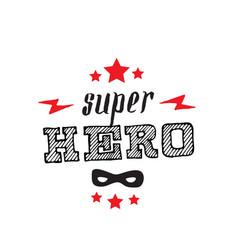 superhero print for t-shirt with stars lightnings vector image