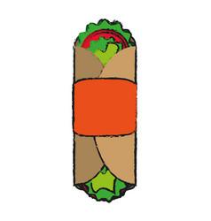 Tacos food draw vector