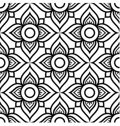 Thai flowers seamless pattern vector