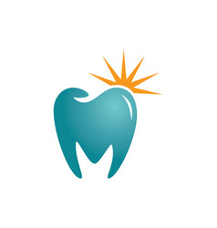 Tooth dental shine abstract logo vector