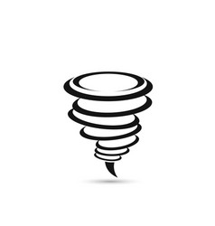 Tornado icon isolated on white background vector