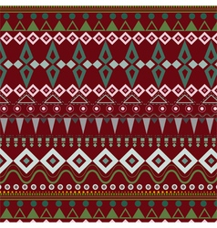 Tribal ethnic seamless stripe pattern on red vector