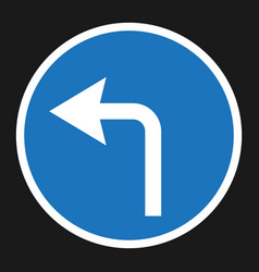 Turn left arrow sign flat icon vector