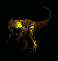 Tyrannosaurus on a black background vector