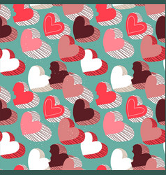valentines day pink candy heart seamless pattern vector image