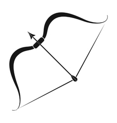 Viking bow icon in black style isolated on white vector