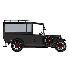 Vintage funeral car vector