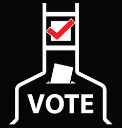voting icon vector image