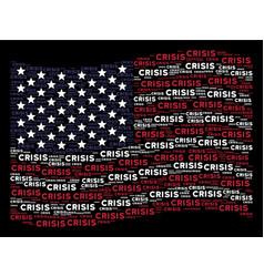 Waving united states flag stylization of crisis vector