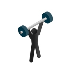 Weightlifting isometric 3d icon vector