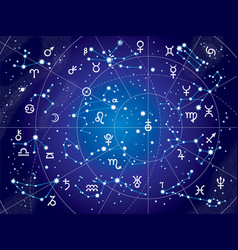 xii constellations of zodiac ultraviolet vector image vector image