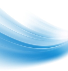 abstract smooth blue wave background vector image