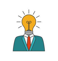 businessman with lightbulb vector image