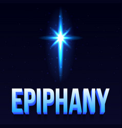 epiphany day poster vector image