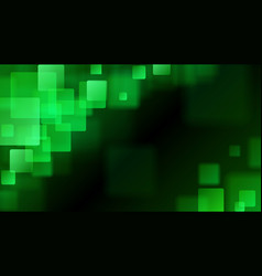 green abstract background of blurry squares vector image vector image