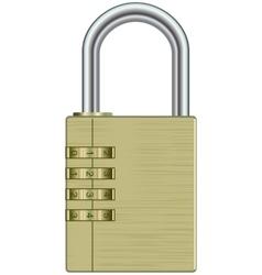 Metal lock vector image vector image