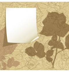 tag on the floral background vector image vector image