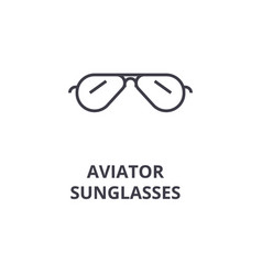 aviator sunglasses line icon outline sign linear vector image