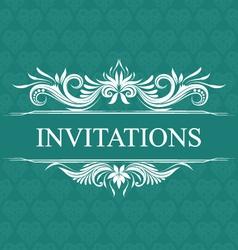Invitations Wedding Ornamental vector image