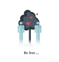 Be free vector image vector image
