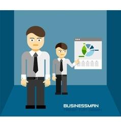 Businessman icon trendy flat design vector