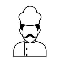 Chef man silhouette vector