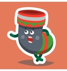 Emoticon Icon Happy New Year Sock vector image vector image
