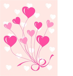 Greeting or invitation card with heart vector image