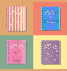 note notebook office icon design vector image vector image