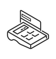 POS-terminal line icon vector image