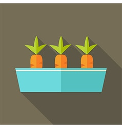 Pot with carrots vector image vector image