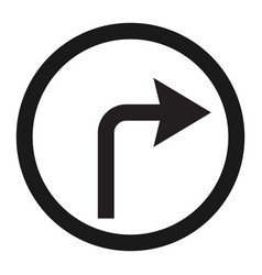 turn right arrow sign line icon vector image vector image