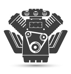 car powerful engine black symbol vector image vector image